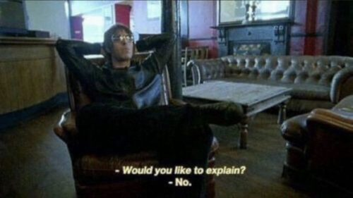 "Liam Gallagher being asked if he would like to explain and saying ""no"""