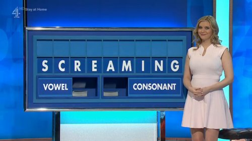 Countdown board spelling out SCREAMING