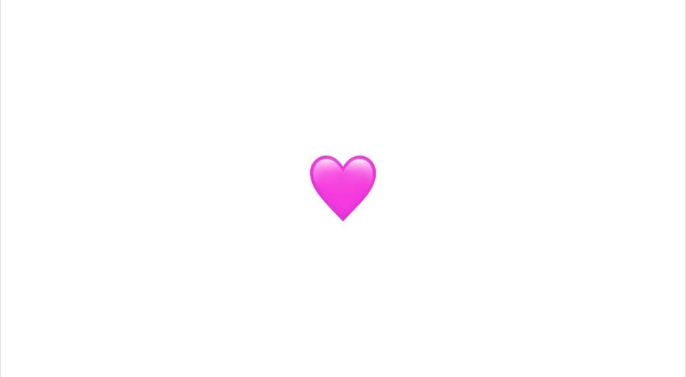 White space pink emoji