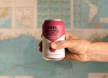A can of raspberry and hibiscus Feel Good