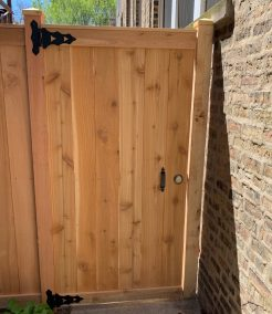 Traditional gate with deadbolt