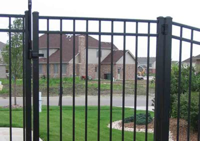 Black Ascot 3 Rail U-Shaped Gate