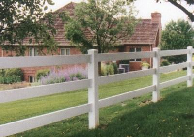 PVC Rail Fence 2