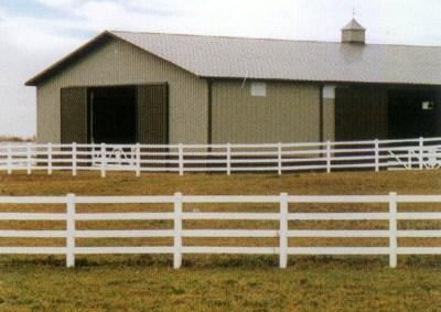 PVC Rail Fence 3