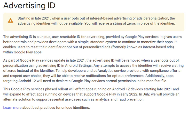 android app ads tracking