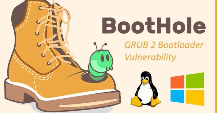 linux grub2 bootloader vulnerability