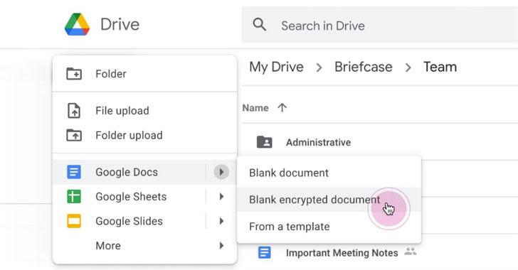 google workspace encryption