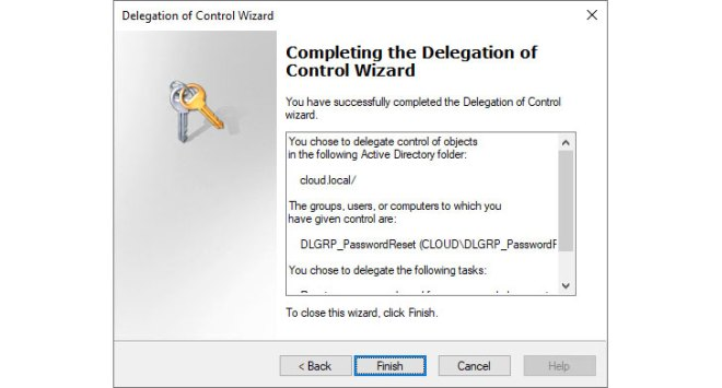 Complete the Delegation of Control Wizard