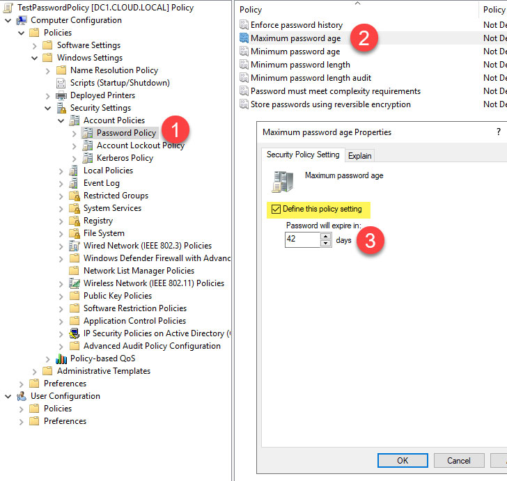 Active Directory Password Policy
