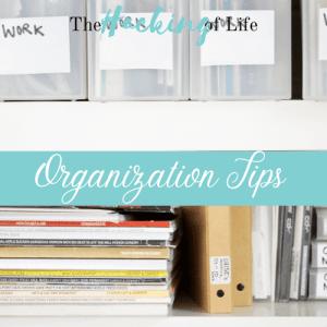 Organization Tips Banner