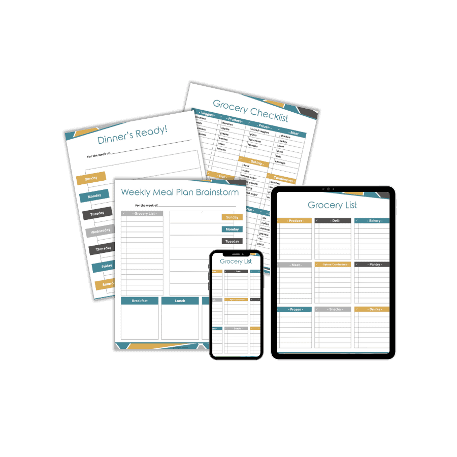 Weekly Meal Planner Template Image