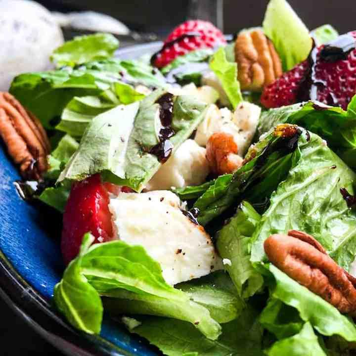 Strawberry Feta Salad with Balsamic Glaze