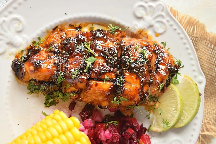 THE BEST GRILLED CILANTRO LIME CHICKEN by savorybitesrecipes.com