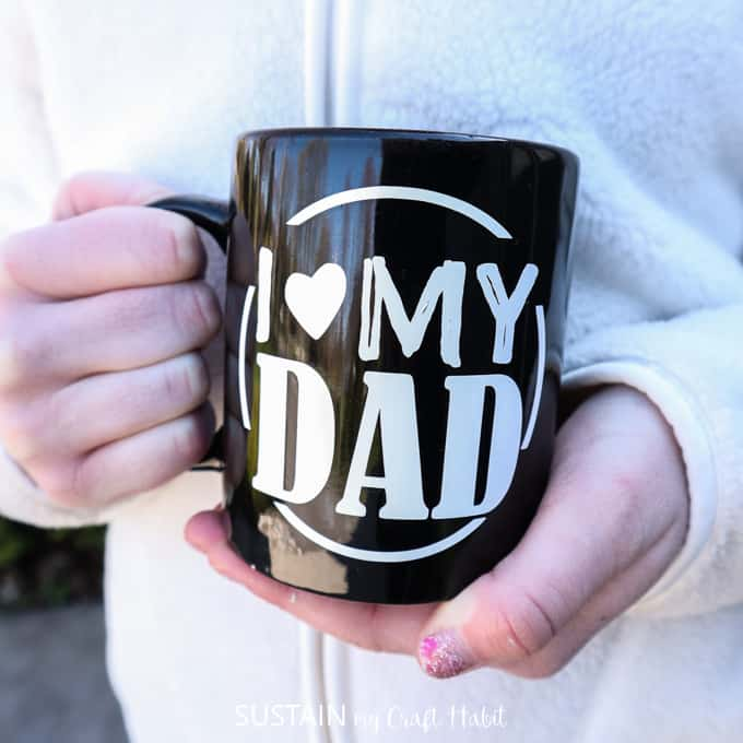 DIY FATHER'S DAY COFFEE MUG by sustainmycrafthabit.com