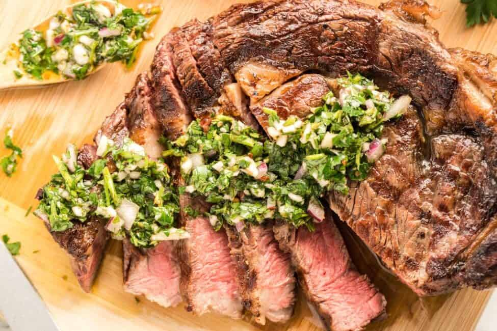 Grilled Steak with Chimichurri by lemonblossoms.com