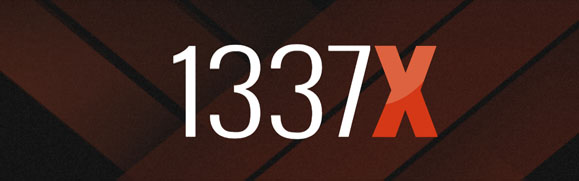 An image of torrent website called 1337X.