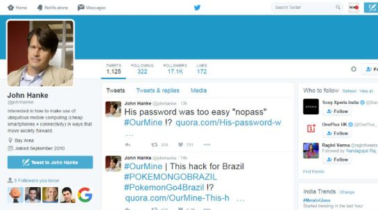 Niantic CEO Twitter account hacked by OurMine