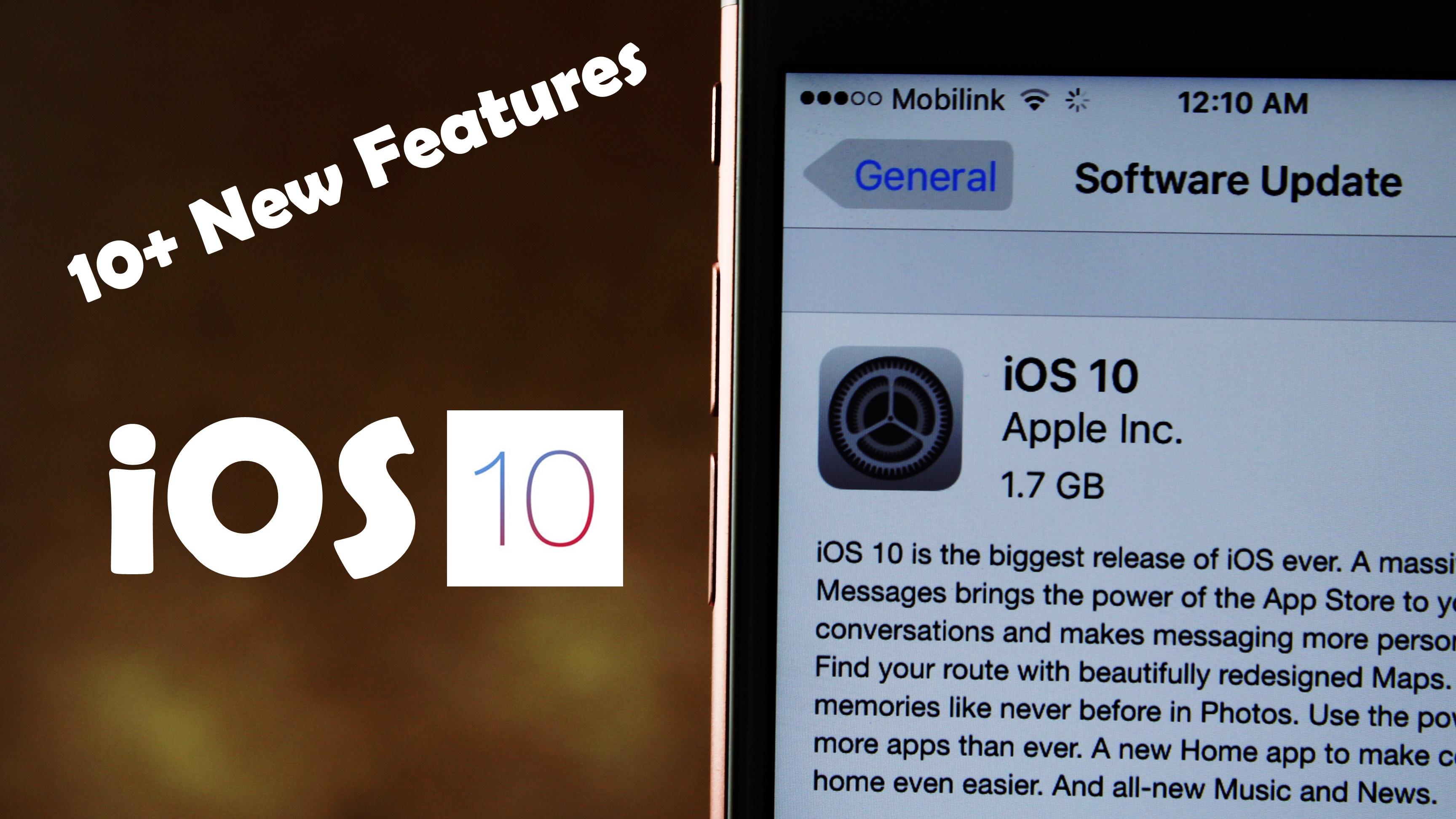 iOS 10 GM Released! 10+ New Features & Changes Review