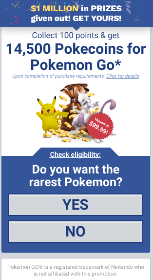 Image Source: Adaptive Mobile – A screenshot of a malicious page offering Pokemon's.