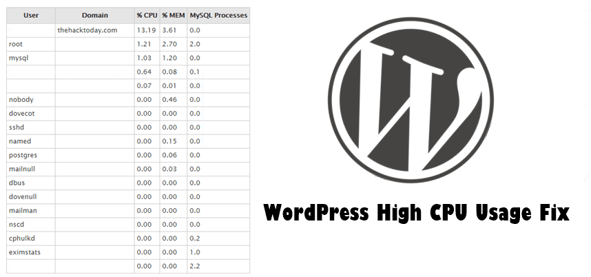 WordPress High CPU Usage Fix