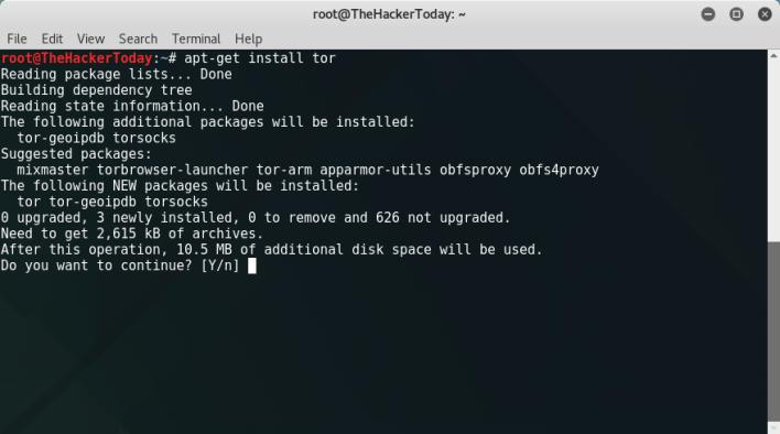 Installing Tor on Kali Linux