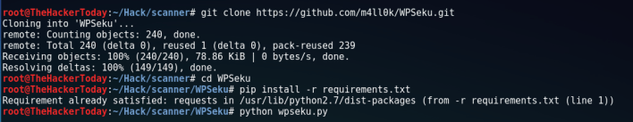 WordPress Vulnerability Scanning With WPSeku