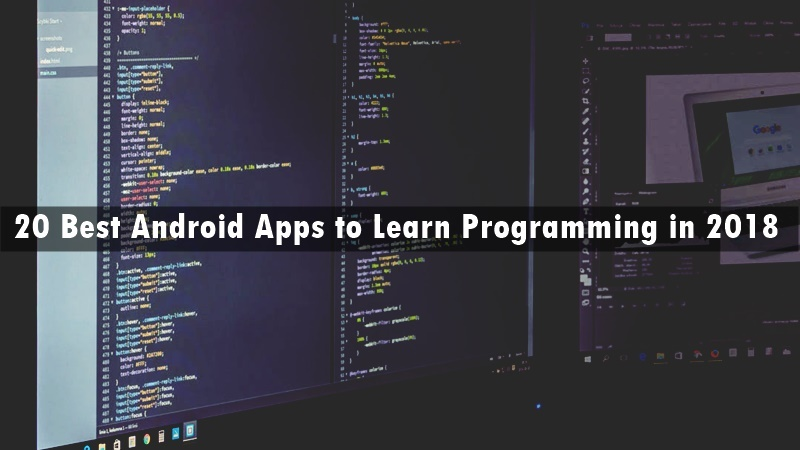 20 Best Android Apps to Learn Programming in 2018