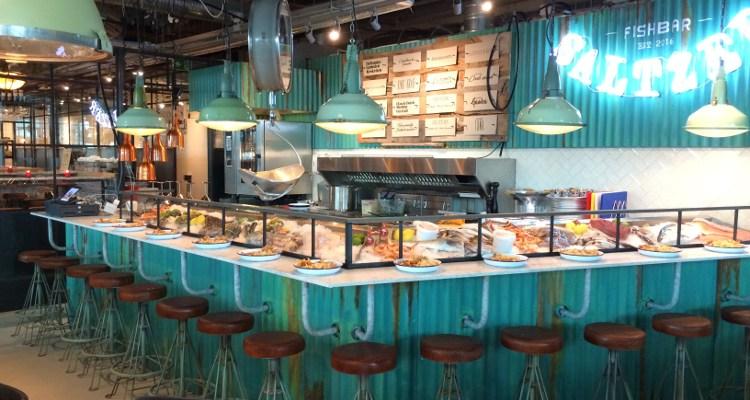 Grand Central Food Market | Fish-, burger- en wijnbar