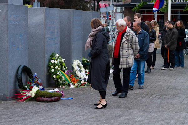 Paying respect on Remembrance Day