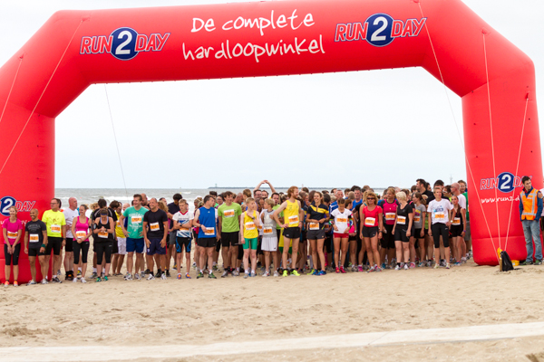 Runners at the start of the Beach Challenge - Beach Run
