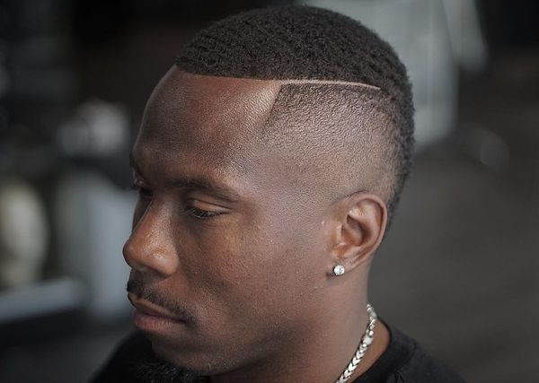 Cool Black Men Haircuts with Part 5