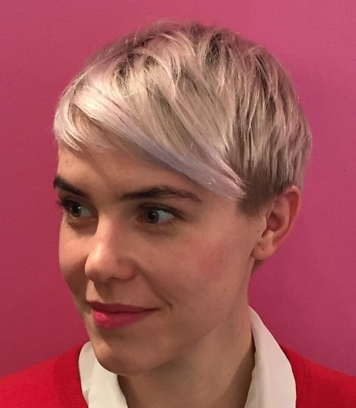 White Pixie with Short Bangs