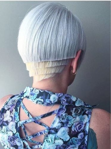Cool Asymmetric Pure White Bob