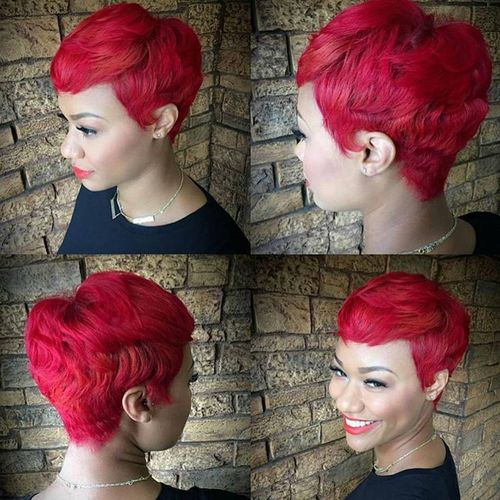 bright crimson pixie