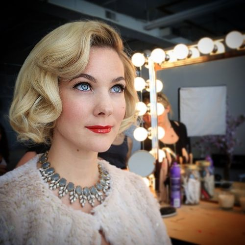 Long White Bob with Waves and Locks