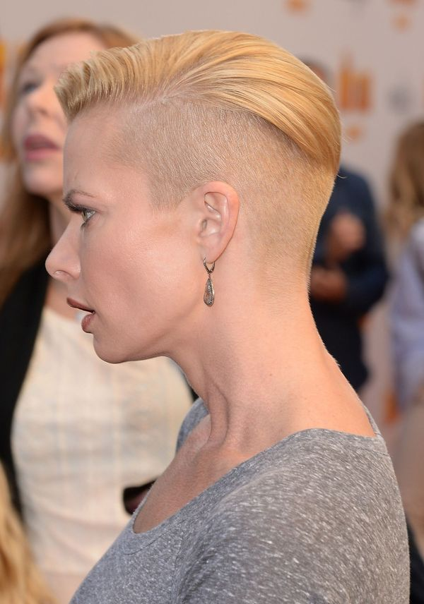 Cool Short Pixie Cut with Shaved Sides 1