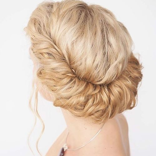 60 easy updos for medium length hair blonde greek updo hairstyle solutioingenieria Choice Image