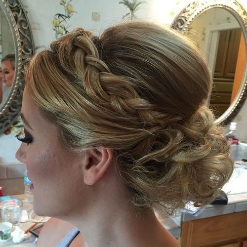 Evening Updos for Medium Hair