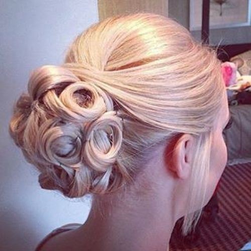 Cool bun updo hairstyle