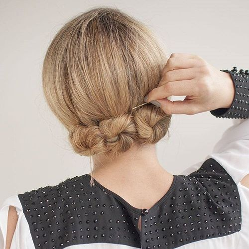 Jolly bun updo hairstyle