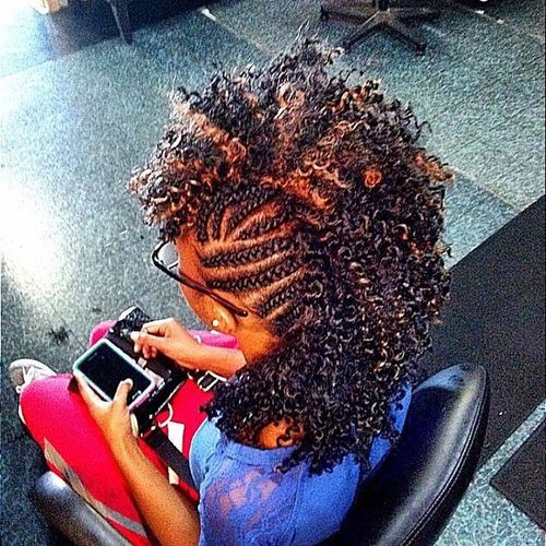 Killing mohawk with braids on the sides