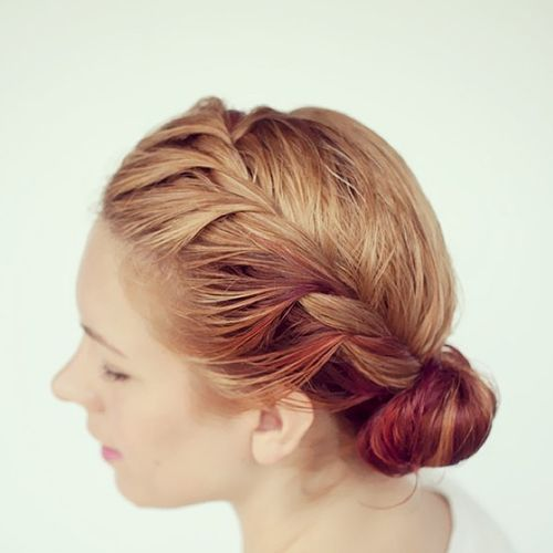Adorable hairstyle with twist braid