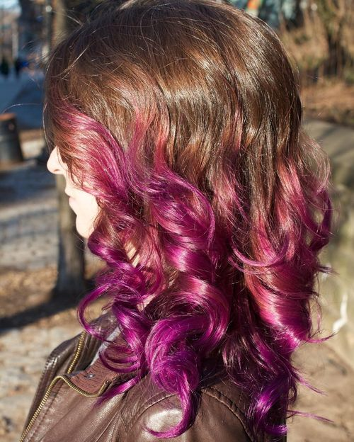 Modern purple ombre