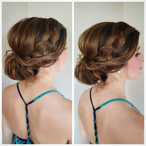 Partial Updos for Medium Hair