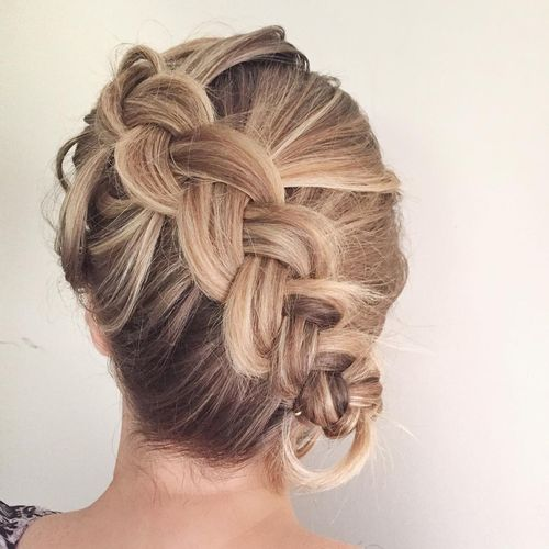 Superior dutch braid hairstyle