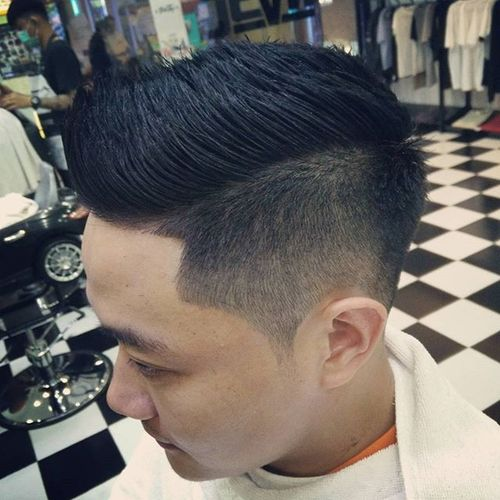 Great Faux Hawk Hairstyle For Asian Men
