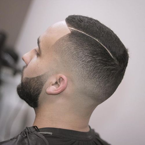Clean Crew Cut with a Slender Line