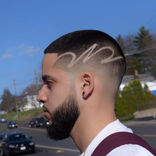 Short Crew Cut with Freestyle Design
