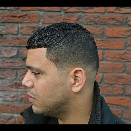 Trendy Men's Caesar Cut Hairstyle 1