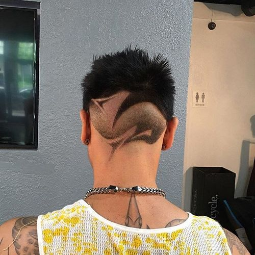 Disconnected Crew Cut with Fantastic Patterns